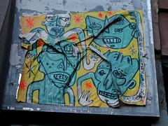 Street Art, New York, NY (Robby Virus) Tags: newyork newyorkcity nyc ny city bigapple manhattan street art paste pasted wheatpaste drawing