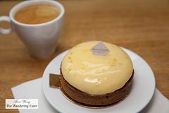 Lemon tart with espresso (thewanderingeater) Tags: gontrancherrier patisserie boulangerie bakery ruecaulaincourt montmartre