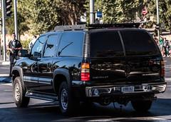 USA D000792 Rear (rOOmUSh) Tags: black chevrolet antennas armored inisrael secretservice strobe suburban usa shimonperes funeral motorcades