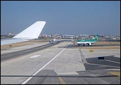 Du monde au dpart (wilphid) Tags: lisbonne lisboa portugal aroport lisboaportela avion pistes hublot