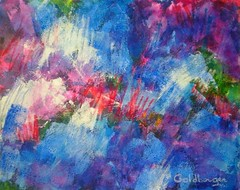 WINTER (anagoldberger) Tags: mixedmedia winter white blue red purple