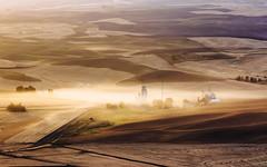 Day's End (John Westrock) Tags: steptoebutte landscape dust farmfield grainelevator washington pacificnorthwest canoneos5dmarkiii canonef100400mmf4556lisusm rural rollinghills palouse johnwestrock