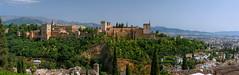 Alhambra - Alcazaba HD pano (jacekbia) Tags: europa espaa hiszpania spain granada alhambra alcazaba panorama hdr outdoor historia zamek castle architektura architecture canon 1100d miejscehistoryczne historicalplace hugin andaluzja andaluca
