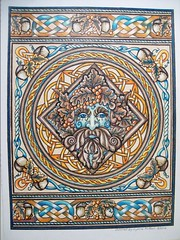 Green Man (Lynne M. B.) Tags: coloringadults coloring coloringbook coloredpencils drawing art illustration prismacolor celticdesignscoloringbook carolschmidt greenman