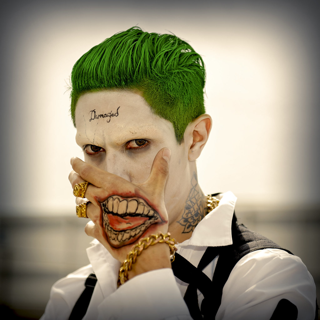 The world 39 s most recently posted photos of film and romics for Joker damaged tattoo