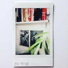 Kurt. (franhinchliffe) Tags: instaxmini90 instaxmini instax fujifilminstaxmini90 fujifilm polaroid instantprint analogphotography analog filmphotography film photography plant indoors books nirvana kurtcobain