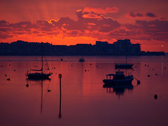 Red (ExeDave) Tags: uk morning red england sky marina sunrise river landscape boats dawn december estuary explore coastal devon gb yachts spa exmouth hightide 2012 waterscape exe starcross eastdevon interestingness500 exeestuary sssi teignbridge ramsarsite moreorlessastaken pc066610