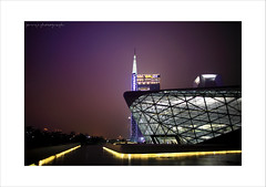 GuangZhou Opera House 1 (ojang jerry) Tags: guangzhou china windows light sky house building tower architecture night eos opera space nightscene constuction       5d2 ef24mml   flickrtravelaward guangzhouopera gettychinaq4