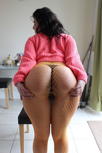 Sexy ass in fishnets