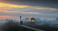 Evening Express, Kildare, Ireland (2c..) Tags: railroad ireland sunset sky tree field train skyscape evening industrial railway trains locomotive ie signal railways irishrail 2c kildare videograb cokildare 5dmk2 72dpipreview lowresolutionpreview 2c