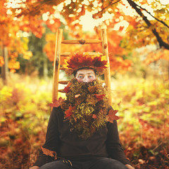 October in the Chair (Brad.Wagner) Tags: autumn color fall beard chair october neilgaiman octoberin