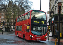 Arriva Volvo B5LH HV49.LJ62BGX - Victoria, London (dwb photos) Tags: bus london volvo victoria hybrid decker arriva hv49 lj62bgx