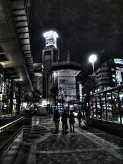 Sunday Late Night in Yokohama (shinnygogo) Tags: city silhouette japan night dark nightimages cityscape noflash illuminated dec yokohama raining kanagawa  japaneseculture 2012 yodobashicamera   traveldestinations  builtstructure