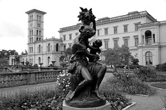 Osborne House - East Cowes Isle of Wight (England) (Meteorry) Tags: county uk greatbritain england blackandwhite bw sculpture house tower castle english clock garden island europe noiretblanc unitedkingdom britain jardin september isleofwight solent british residence palazzo chteau princealbert queenvictoria osborne 2012 eastcowes le summerresidence meteorry italianrenaissance thomascubitt