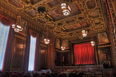 Hear Ye, Hear Ye (MPnormaleye) Tags: city columbus ohio detail beautiful architecture composition court golden design 1930s decorative patterns cities wideangle ceiling vista historical civic marble elegant picturesque metropolitan hdr memorials beauxarts