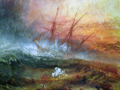 JMW Turner, Slave Ship, detail of ship