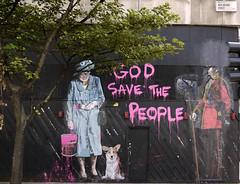 Graffiti in New Oxford Street  London (Dick Bulch) Tags: street new graffiti god save queen oxford