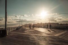 (onesevenone) Tags: city nyc newyorkcity sunset urban sun ny newyork beach america unitedstates gothamist farrockaway eastcoast broadwalk rockaways stefangeorgi onesevenone