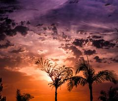 Watercolor Sky (selonphi) Tags: california sunset clouds hills anaheim sku