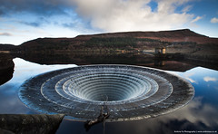 Down the Plughole! (awhyu) Tags: park way photography district derbyshire peak andrew reservoir national yu spill ladybower plughole bellmouth