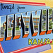 Greetings from Coffeyville, Kansas - Large Letter Postcard