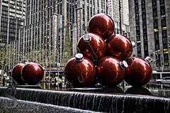 NY Festive big balls and the radio city tree--2 (Singing With Light) Tags: city nyc ny festive photography december pentax manhattan 2012 k5 jjp singingwithlight