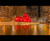 NYC Christmas decorations with Radio City Music Hall off in the distance. (Jas Bassi) Tags: new york city nyc red ny photography nikon decoration balls jas radiocity redballs 2470mm abigfave jasbassi jasbassiphotography