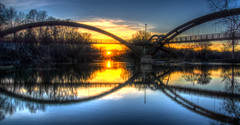 Chippewa River Sunset Dec 25, 2012 (Chris (Midland05)) Tags: bridge sunset water mi michigan midland tridge midlandmi chippewariver midlandmichigan flickraward tittabawasseeriver flickraward5 mygearandme pentaxk5 flickrawardgallery ringexcellence christmas2012 imgp226768697071tonemapped2