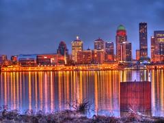 Louisville CityScape (Phyllis74) Tags: sunset skyline cityscape cloudy kentucky louisville