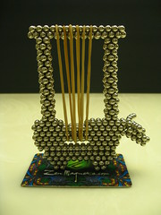IMG_2533 - Mesopotamian Lyre (tend2it) Tags: sculpture music art geometric ball 3d cool ancient geometry balls bull magnets musical zen instrument harp shape magnet spheres sculptures lyre buckyballs mesopotamian sumerian neodymium neoball neocube magcube cybercube zenmagnets nanodots zenmagnet