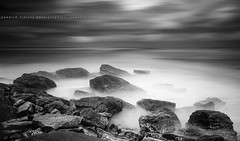 Minimalist Long Exposure at Guthary ~ Pyrnes-Atlantique / France ~ (Yannick Lefevre) Tags: longexposure bw seascape france photoshop landscape nikon raw nef tripod wideangle filter minimalist manfrotto hoya rockscape d300 ndfilter nd400 pyrnesatlantiques guthary sigma1020 poselongue nikoncapturenx ndx400 capturenx2 yllogo yannicklefevre||photography photoshopfausseposelongue