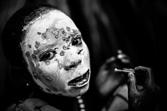 Surma tribe child with face painting (anthony pappone photography) Tags: africa travel boy portrait baby white black art face barn digital canon pose painting photography facepainting eyes paint artist faces image expression retrato african painted picture culture unesco clay tribes afrika omovalley fotografia ethiopia ritratto surma reportage photograher afrique barna bambino faccia eastafrica