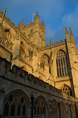 Bath Abbey, Bath (Ruth&Michiel) Tags: england church abbey stone bath christ cathedral unitedkingdom christian middleages engeland kathedraal steen brittain abdij middeleeuwen middeleeuws greatbrittain christelijk batheabbey