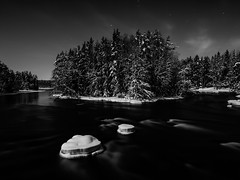[362|366] Full moon over Dallven (Per Spektiv) Tags: winter bw moon nature water night landscapes sweden project365 explored 2012inphotos onepicaday2012