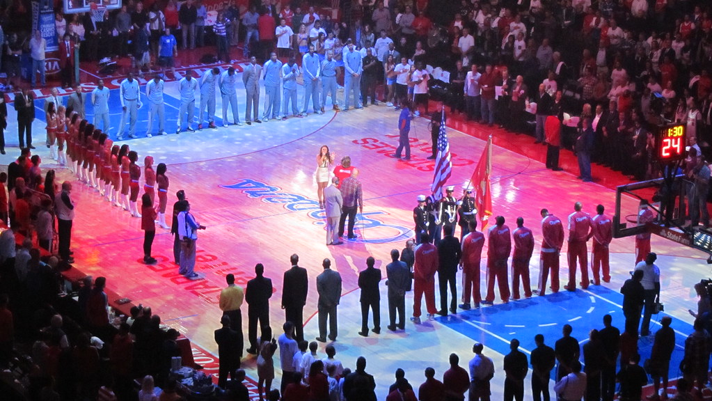 Singing of the national anthem by David Jones, on Flickr