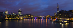 Panorama of London taken from the Millennium Bridge (Dream On With Me) Tags: london thames night towerbridge lights lowlight millenniumbridge southwarkbridge londonpanorama