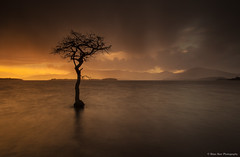 Here Comes The Rain Again (.Brian Kerr Photography.) Tags: sunset rain clouds scotland lochlomond thetreeofmilarrochy