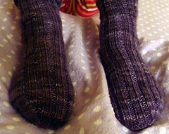 SleepinSocks II frontvu (NutmegOwl) Tags: socks juliet yarnlove sleepingsocks