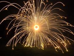 Happy New Year! (CoasterMadMatt) Tags: new winter colour home wheel garden photography day fireworks photos january firework celebration catherine years tri newyearsday catherinewheel 2013 hootys coastermadmatt hootysfireworks tricolourwheel