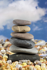 Balance (cwadysz) Tags: life sky sculpture cloud shells beach nature rock stone clouds relax rising design rocks peace natural stones top magic bottom smooth relaxing lifestyle peaceful tranquility pebbles calm stack sensual clean business pebble achievement health retreat zen harmony tropical balance meditation stacking concept therapy copyspace care conceptual build metaphor bliss healing stress refreshing magical spa luxury balancing tranquil balanced mystic stacked soothing pampered unsteady treatment purity wellbeing refresh unbalanced holistic pampering pamper remedial unitedkingdomofgreatbritainandnorthernireland