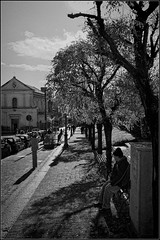 Just waiting (M Luca) Tags: street winter bw waiting strada loneliness bn attesa solitudine aspettare