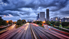 Lake Shore Drive (Seth Oliver Photographic Art) Tags: nightphotography chicago clouds buildings landscapes iso200 illinois nikon midwest skyscrapers cities cityscapes lakeshoredrive nightshots lighttrails pinoy johnhancockbuilding nightscapes circularpolarizer chicagoskyline urbanscapes secondcity windycity longexposures chicagoist goldcoastneighborhood d90 nightexposures 2secondexposure cityofbigshoulders nighttrails manualmodeexposure bluehourshot setholiver1 aperturef130 18105mmnikkorlens tripodmountedshot remotetriggeredshot