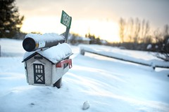 1958 (Perry McKenna) Tags: day2 snow mailbox rural sunrise canon 3d ottawa snowbank canonef35mmf14l project365 day2365 5d3 3652013 365the2013edition 02jan13 bornin1958