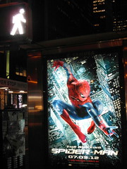 new york spiderman (kexi) Tags: nyc usa ny june vertical night america lights us manhattan spiderman samsung midtown 2012 instantfave thebestofday wb690