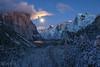 Moonrise Tunnel View (Willie Huang Photo) Tags: california longexposure winter moon snow mountains nature night landscape nationalpark scenic merced sierra yosemite yosemitenationalpark elcapitan sierranevada bridalveilfalls yosemitevalley