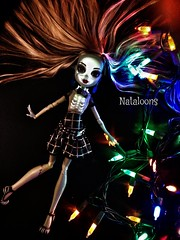 She's Electric! (Nataloons) Tags: christmas light monster electric skeleton skull lights high doll frankie lightup alive spark stein mattel electrocute ghouls frankiestein monsterhigh uploaded:by=flickrmobile flickriosapp:filter=nofilter
