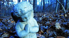little (LauraSorrells) Tags: november blue statue angel this god spirit path grace christianity spirituality statuary angelic stillness 2012 favoriteplace gethsemani thinplace