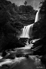 Tiers of Joy ([Chris Tennant]) Tags: bw ny newyork nature water monochrome waterfall grand hike hunter catskills palenville iconic tiers kaaterskill 5dmkii christennantphotography