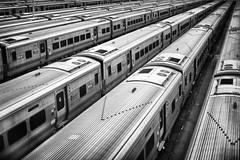 hudson yards (eb78) Tags: nyc newyorkcity railroad urban blackandwhite bw monochrome train manhattan trains transit grayscale railyard lirr greyscale hudsonyards