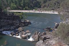 Cataract Gorge footbridge (nisudapi) Tags: bridge suspension footbridge tasmania gorge suspensionbridge launceston cataract 2012 southesk firstbasin